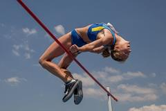 Alina Shukh in the heptathlon high jump (Getty Images)
