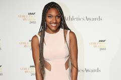 Tara Davis on the red carpet at the IAAF Athletics Awards 2018 (Giancarlo Colombo)