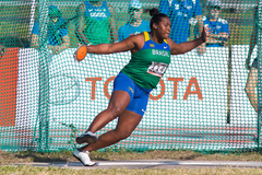 Andressa de Morais in the discus at the South American Championships (Oscar Munoz Badilla)