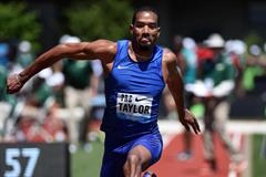 Christian Taylor at the 2016 IAAF Diamond League meeting in Eugene (Kirby Lee)