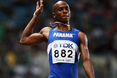 Irving Saladino sailing to long jump gold in Osaka (Getty Images)