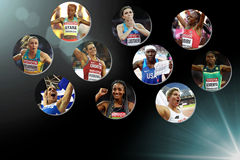The nominees for the women's 2017 IAAF Athlete of the Year award (Getty Images)