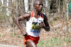 Geoffrey Kirui in Boston (Victah Sailer)
