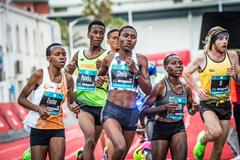 Sheila Chepkirui on her way to winning the Durban 10k (Tobias Ginsberg / organisers)