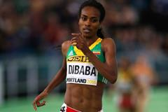 Genzebe Dibaba in the 3000m at the IAAF World Indoor Championships Portland 2016 (Getty Images)