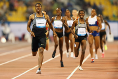 Caster Semenya wins the 800m at the IAAF Diamond League meeting in Doha (Getty Images)