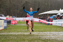Nadia Battocletti wins the U20 race at the European Cross Country Championships in Tilburg (Getty Images)