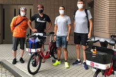 From left: Hokkaido marathon organiser Ryo Takano, JAAF deputy sport manager Yasuhiro Oshima, Health and Science department manager Paolo Emilio Adami and department director Stéphane Bermon in Sapporo (Tokyo 2020)