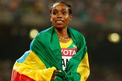 Almaz Ayana after winning the 5000m at the IAAF World Championships Beijing 2015 (Getty Images)