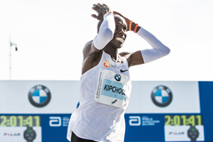 Eliud Kipchoge after winning the Berlin Marathon (Getty Images)