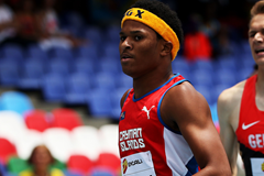 Jamal Walton of the Cayman Islands in action in the 400m (Getty Images)