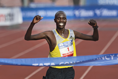 Wilson Chebet wins the 2013 Amsterdam Marathon in a course record (AFP / Getty Images)
