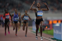 Faith Kipyegon wins the 1500m at the IAAF Diamond League in Shanghai (Getty Images)