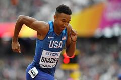 Donavan Brazier competes at the 2017 IAAF World Championships (Getty Images)