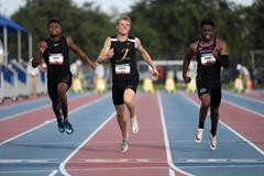 Matthew Boling in action at the US U20 Championships (Kirby Lee)