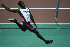 Dwight Phillips competes at the 2007 Osaka World Championships ()
