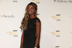 Caterine Ibarguen on the red carpet in Monaco (Giancarlo Colombo)