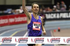 Nick Willis at the 2016 New Balance Indoor Grand Prix meeting in Boston (Andrew McClanahan)