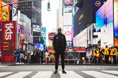 Geoffrey Kamworor ahead of the New York City Marathon (Dan Vernon)