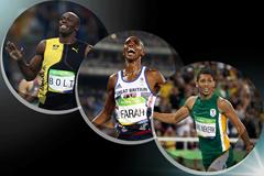 The IAAF World Athlete of the Year 2016 men's finalists: Usain Bolt, Mo Farah, Wayde van Niekerk (Getty Images)