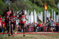 Jackson Muema on his way to winning the cross-country race at the Buenos Aires 2018 Youth Olympic Games (OIS/IOC)