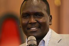 Paul Tergat at the IAAF/LOC press conference in Kampala (Roger Sedres)