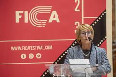 IAAF Council Member Anna Riccardi at the opening of the FICA International Athletics Film Festival in San Sebastian, Spain (Gari Garaialde/Getty Images for IAAF)