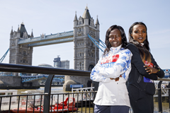 Mary Keitany and Tirunesh Dibaba ahead of the London Marathon (AFP / Getty Images)
