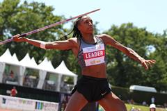 Nafissatou Thiam in the heptathlon javelin at the Decastar meeting in Talence (Jean-Pierre Durand)