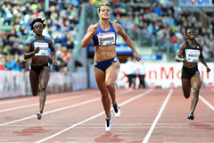 Dafne Schippers wins the 200m at the IAAF Diamond League meeting in Oslo (Mark Shearman)