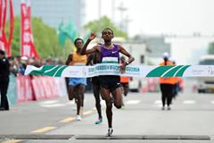 Mosinet Geremew wins the Yangzhou Half Marathon (Organisers)