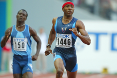 Tyree Washington in the 400m at the 2003 IAAF World Championships (Getty Images)