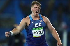 2016 Olympic shot put champion Ryan Crouser in Rio (Getty Images)