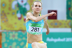 Kazakhstan's Olga Rypakova in action in the triple jump at the Asian Indoor Games in Ashgabat (Organisers)