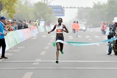 Perine Nengampi wins the Yangzhou Jianzhen International Half Marathon (Organisers)