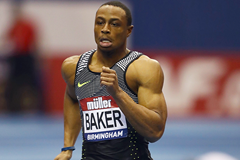 Ronnie Baker in the 60m at the IAAF World Indoor Tour meeting in Birmingham (Getty Images)