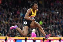 Ristananna Tracey at the 2017 World Championships (AFP/Getty Images)