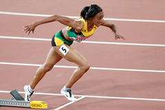 Christine Day competes during the 2015 Beijing World Championships (Getty Images)