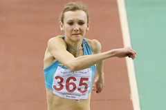 Kazakhstan's Olga Rypakova in action in the triple jump (AFP / Getty Images)