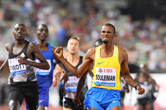 Ayanleh Souleiman wins the 1000m at the 2016 IAAF Diamond League meeting in Lausanne (Gladys von der Laage)