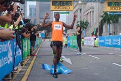 Felix Kiptoo Kirwa wins the Singapore Marathon (Organisers)