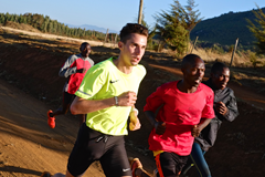 Julien Wanders trains in Iten, Kenya (Thomas Gmür/ATHLE.ch)