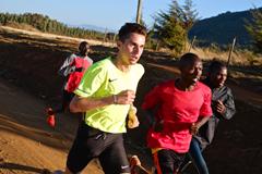 Julien Wanders trains in Iten, Kenya (Thomas Gmür/ATHLE.ch)