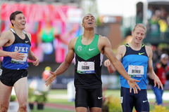 Curtis Beach, Ashton Eaton and Joe Detmer at the 2012 US Olympic Trials ()