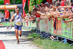 Sylvain Court on his way to winning at the 2015 IAU Trail World Championships (FFA / organisers)
