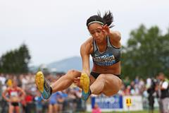 Katarina Johnson-Thompson in the heptathlon long jump at the Hypo Meeting in Gotzis (Getty Images)