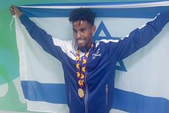 Adisu Guadia with his European Youth Olympic Festival gold medal (Alley Runners)