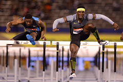 Omar McLeod wins the 110m hurdles at the Jamaican Championships (AFP / Getty Images)