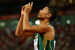 Wayde van Niekerk at the 2015 Beijing World Championships (Getty Images)