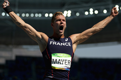 Kevin Mayer Celebrates Rio 2016 ()